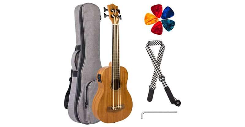 Kmise Electric Acoustic Bass Ukulele