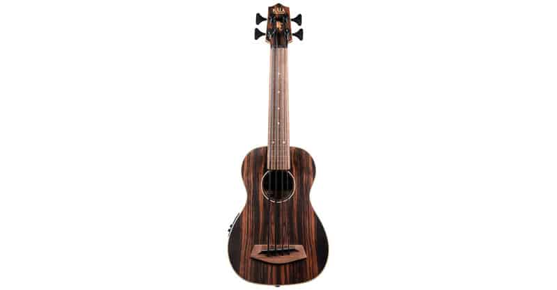 Kala UBASS-EBY-FL Striped Ebony Fretless U-Bass Acoustic-Electric