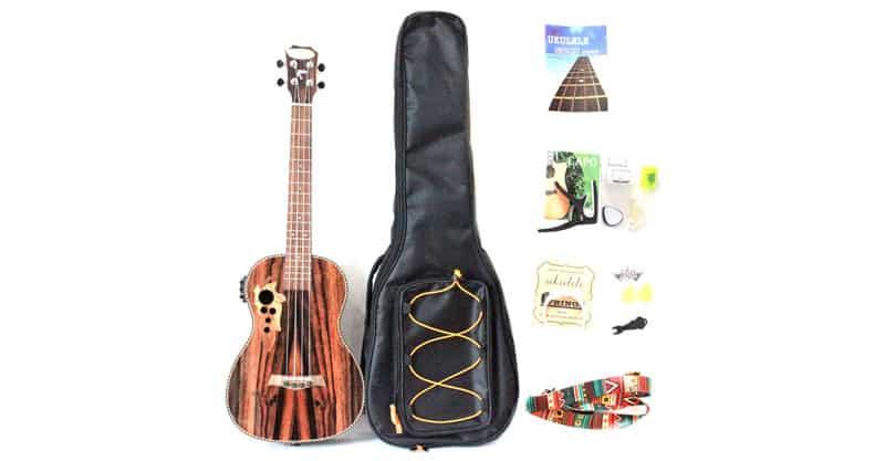 MUSOO All Blackwood Baritone Acoustic Electric Ukulele