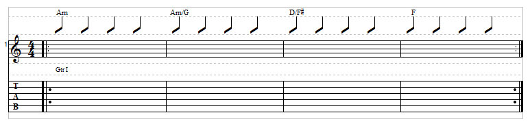 Sad chord progression example 7