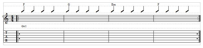 Sad chord progression example 4