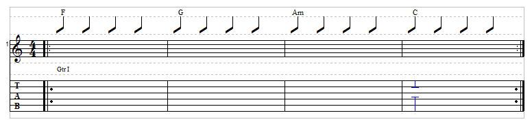 Sad chord progression example 3