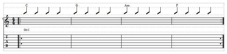 Sad chord progression example 1