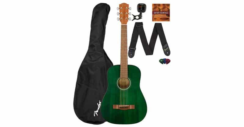 Fender FA-15 3/4 Scale Kids Steel String Guitar Learn-To-Play Bundle