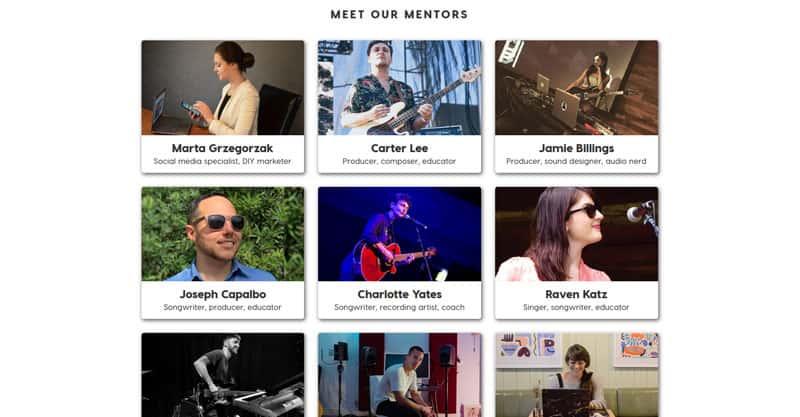 Music business mentors
