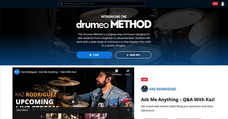 Live drum training